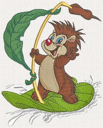 Hedgehog Machine Embroidery