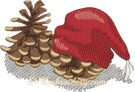 Christmas cones machine embroidery design