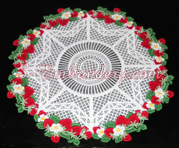 Freestanding lace doily