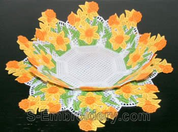 Daffodil freestanding lace bowl #2