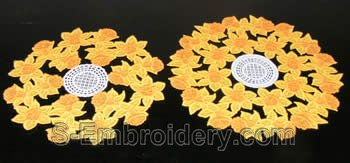 Daffodil freestanding lace doilies #4 and 5