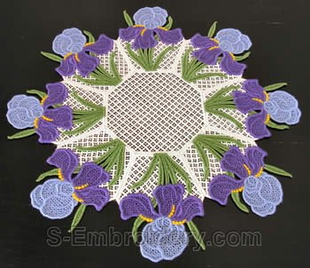 Iris freestanding lace doily