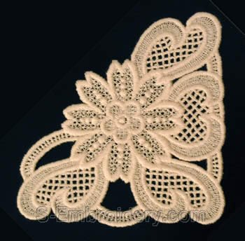 Freestanding lace corner embroidery-mirrored