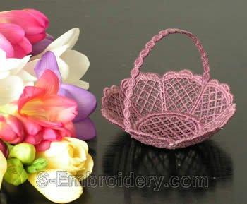 Freestanding lace wedding basket #8