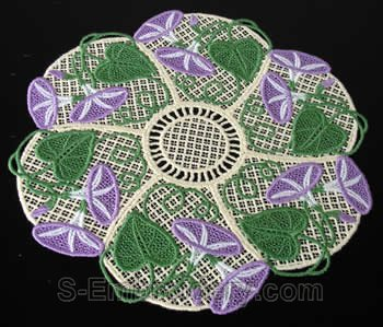 Morning glory freestanding lace doily #2
