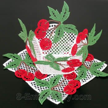 Cherry freestanding lace bowl #3