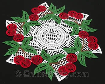 Cherry freestanding lace doily #2