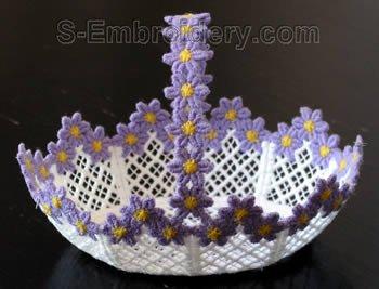 Freestanding lace wedding basket #24