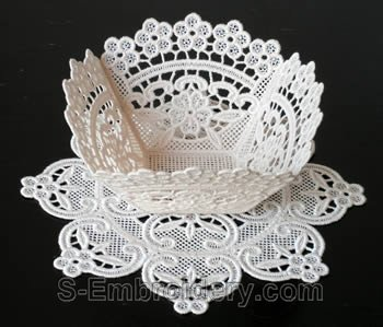 Freestanding Lace bowl #3