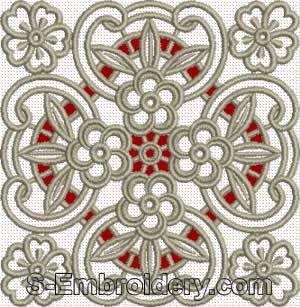 Floral cutwork lace - mono-color version