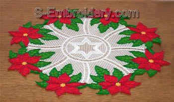 Freestanding Lace Poinsettia Doily Image