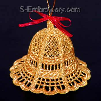 Freestanding Lace 3D Christmas bell #5