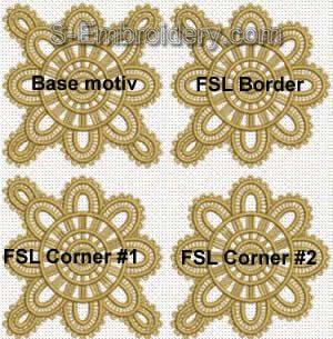 Freestanding lace table runner set