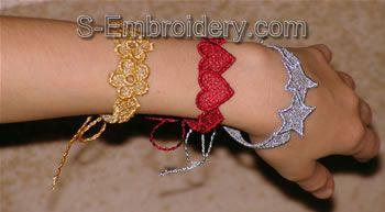 Freestanding lace bracelets