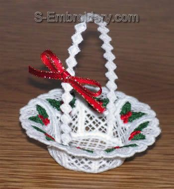 Freestanding lace mini basket #2