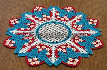 Easter egg freestanding lace doily