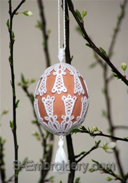 Freestanding Lace Easter Egg Cover #2