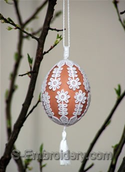 Freestanding Lace Easter Egg Cover #3