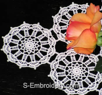 Freestanding Lace Doily close-up image