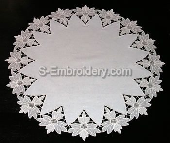 Freestanding Lace Doily - large