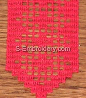 Freestanding Lace Crochet Bookmark #4