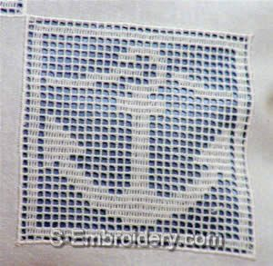 Freestanding lace crochet anchor square
