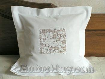 Freestanding lace crochet angel pillow