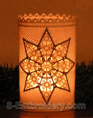 Freestanding Lace Christmas Light Shade #4