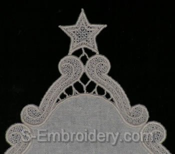 Freestanding Lace Floral Star close-up image