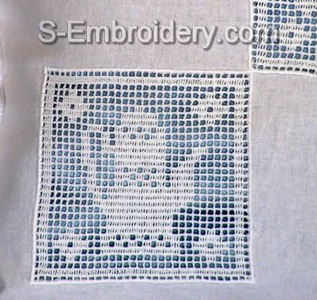 Freestanding Lace Kitchen Crochet Square 4