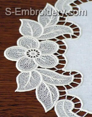 Freestanding Lace Doily Machine Embroidery Design - detailed image