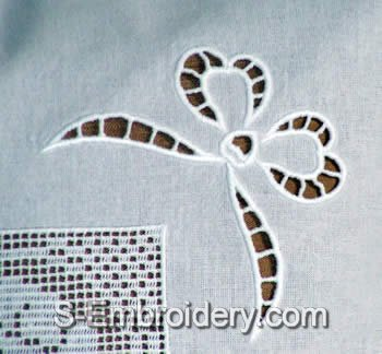 Cutwork Lace Bow Embroidery Decoration