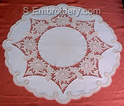 Freestanding Lace Sunflower Table Top