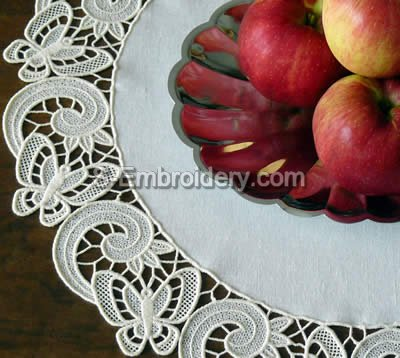 Freestanding Lace Butterfly Doily Embroidery Design