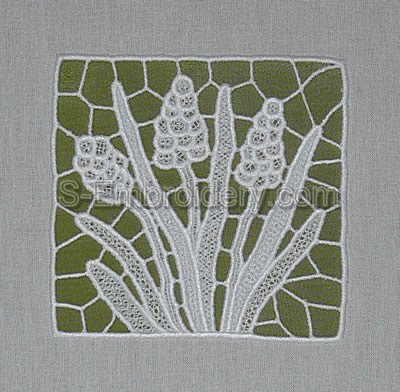 Hiacint freestanding lace machine embroidery design