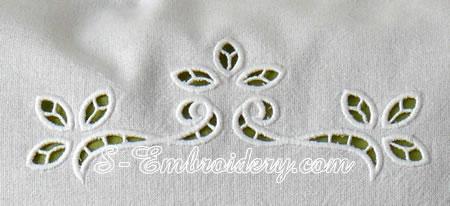 10618 Cutwork Lace Machine Embroidery Set