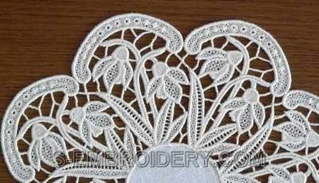 Snowdrops freestanding lace machine embroidery design