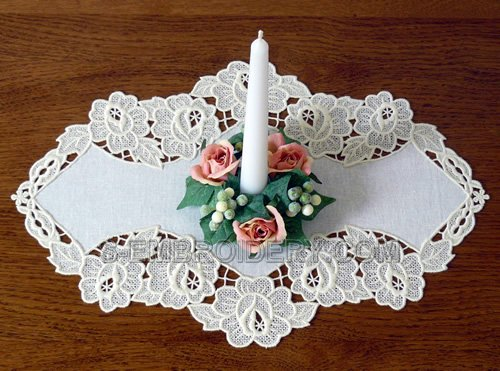 Rose freestanding lace doily