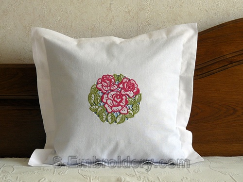Roses cutwork lace embroidery