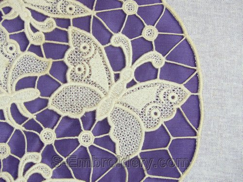 Free standing lace butterfly machine embroidery design