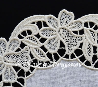 Floral free standing lace machine embroidery design