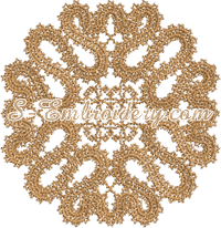 Battenburg lace doily machine embroidery design