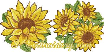 10071 Cross stitch sunflower embroidery set
