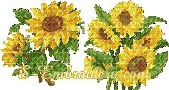 10072 Cross stitch sunflower embroidery set