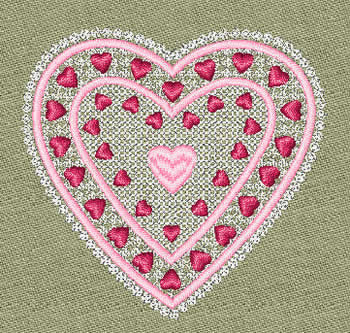 10082 Valentine heart machine embroidery