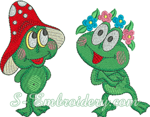 10114 Froggy machine embroidery set