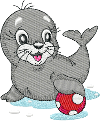 10191 Seal machine embroidery design