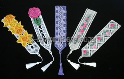 10333 Free standing lace bookmarks embroidery set