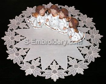 10342 Free standing lace doily set No2