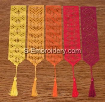 10363 Free standing lace crochet bookmarks